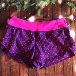 Ivivva girls purple & pink shorts size 12 EUC